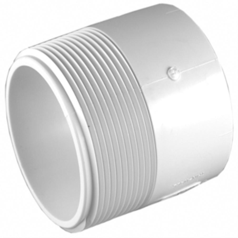 3 in. PVC Sch. 30 Thin-Wall H x MPT Male Adapter