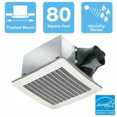 Signature Series 80 CFM Humidity Sensing Ceiling Bathroom Exhaust Fan, ENERGY STAR