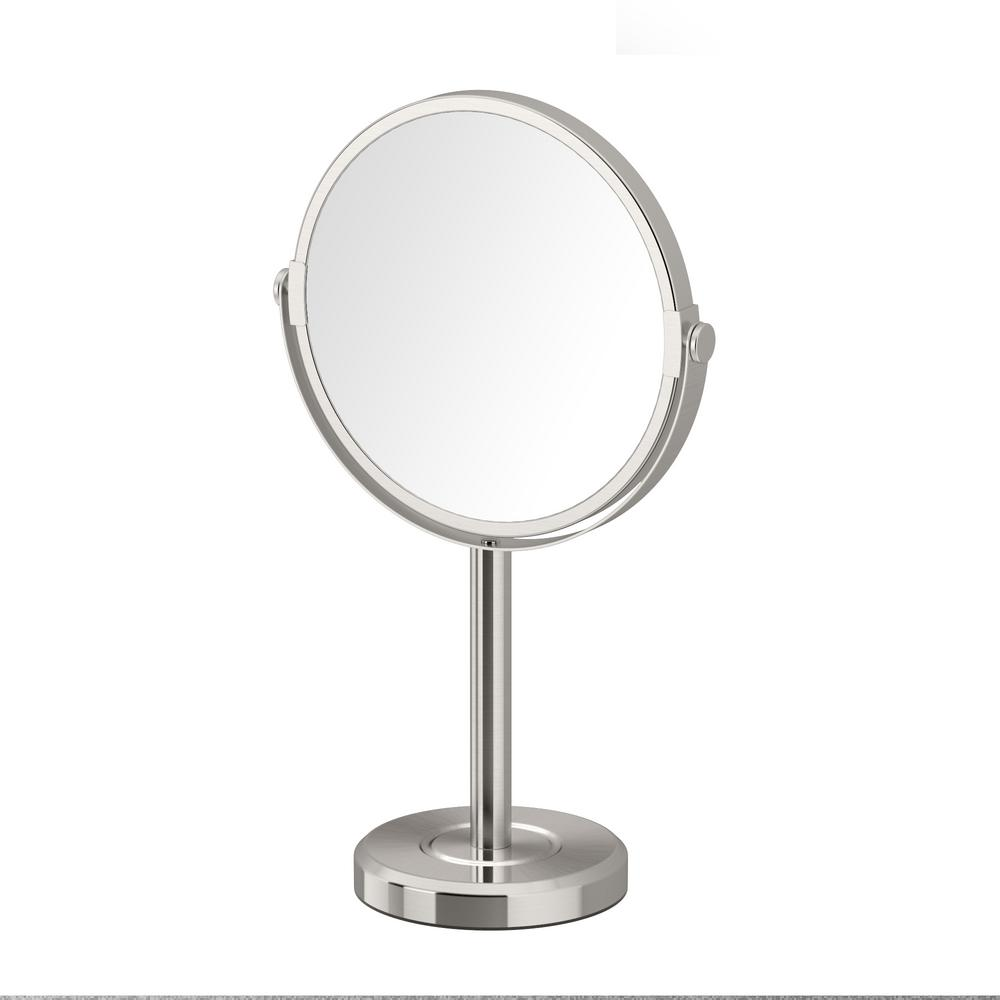 Latitude II Minimalist 12.5 in. Countertop 3x Magnification Makeup Mirror in