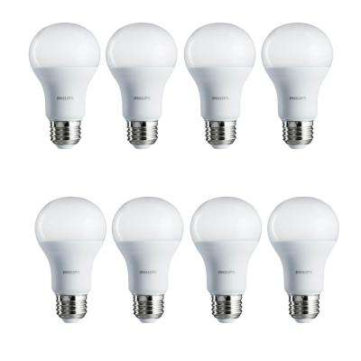 100-Watt Equivalent A19 Non-Dimmable Energy Saving LED Light Bulb Daylight (5000K) (8-Pack)