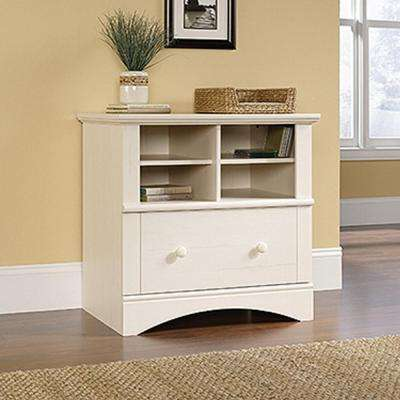 Harbor View Antiqued White File Cabinet