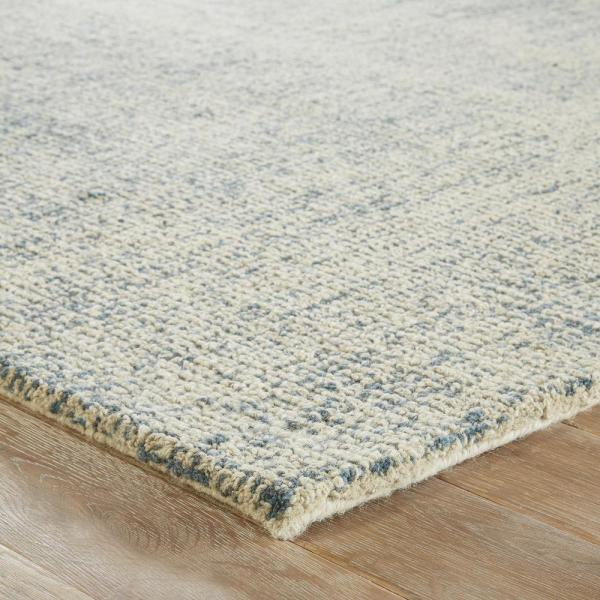 Cornelius Hand Tufted Blue Light Gray 5 Ft X 8 Ft Abstract Area Rug Rkg109248 The Home Depot