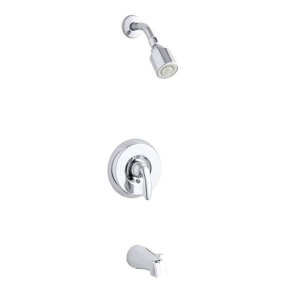 KOHLER Coralais 1-Handle Tub and Shower Trim Kit in Brushed Chrome (Valve Not Included)