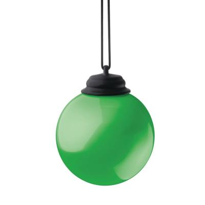 5 in. Green LED Hanging Patio Globe