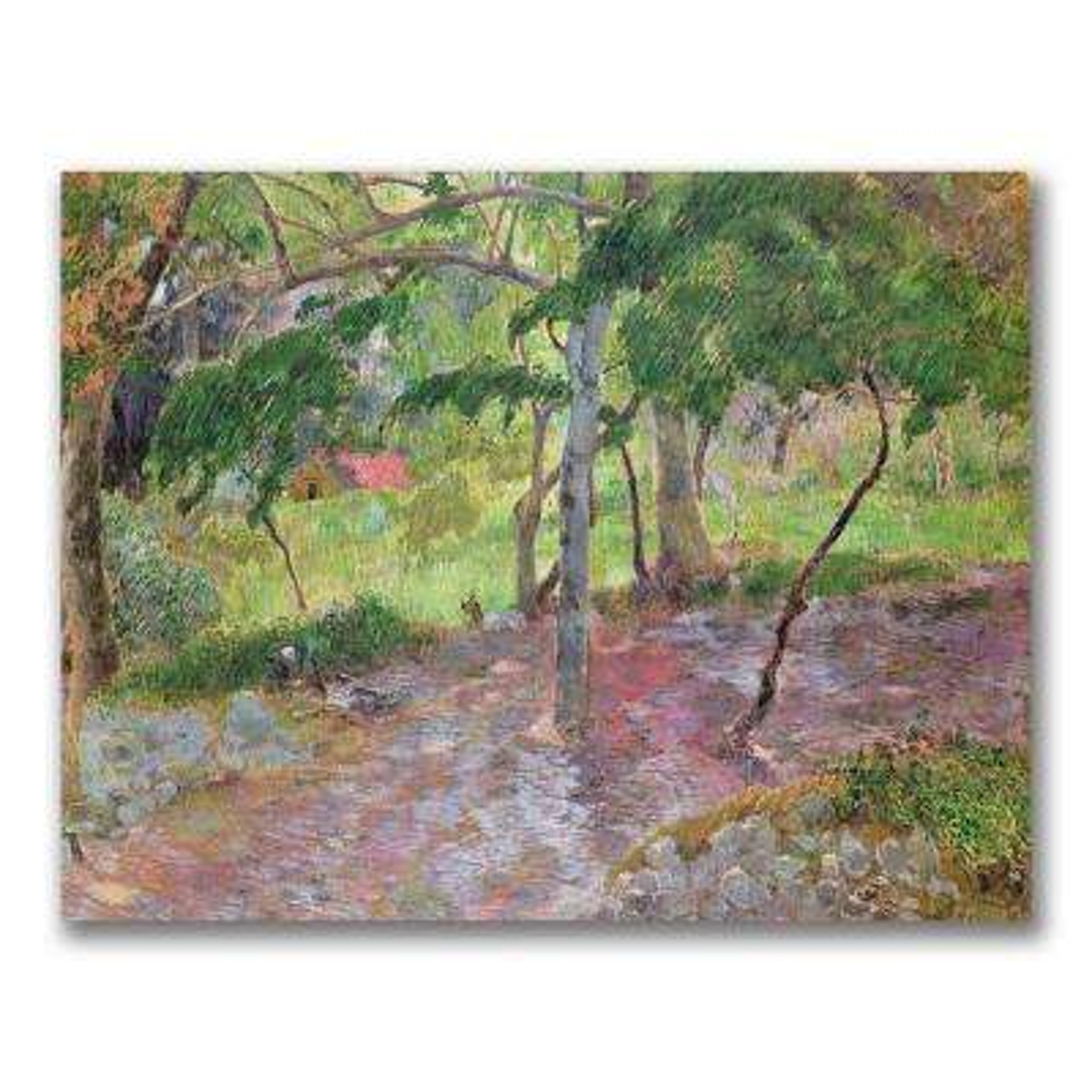 24 in. x 32 in. Tropical Landscape, Martinique Canvas Art