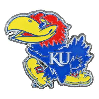 2.8 in. x 3.2 in. NCAA University of Kansas Color Emblem