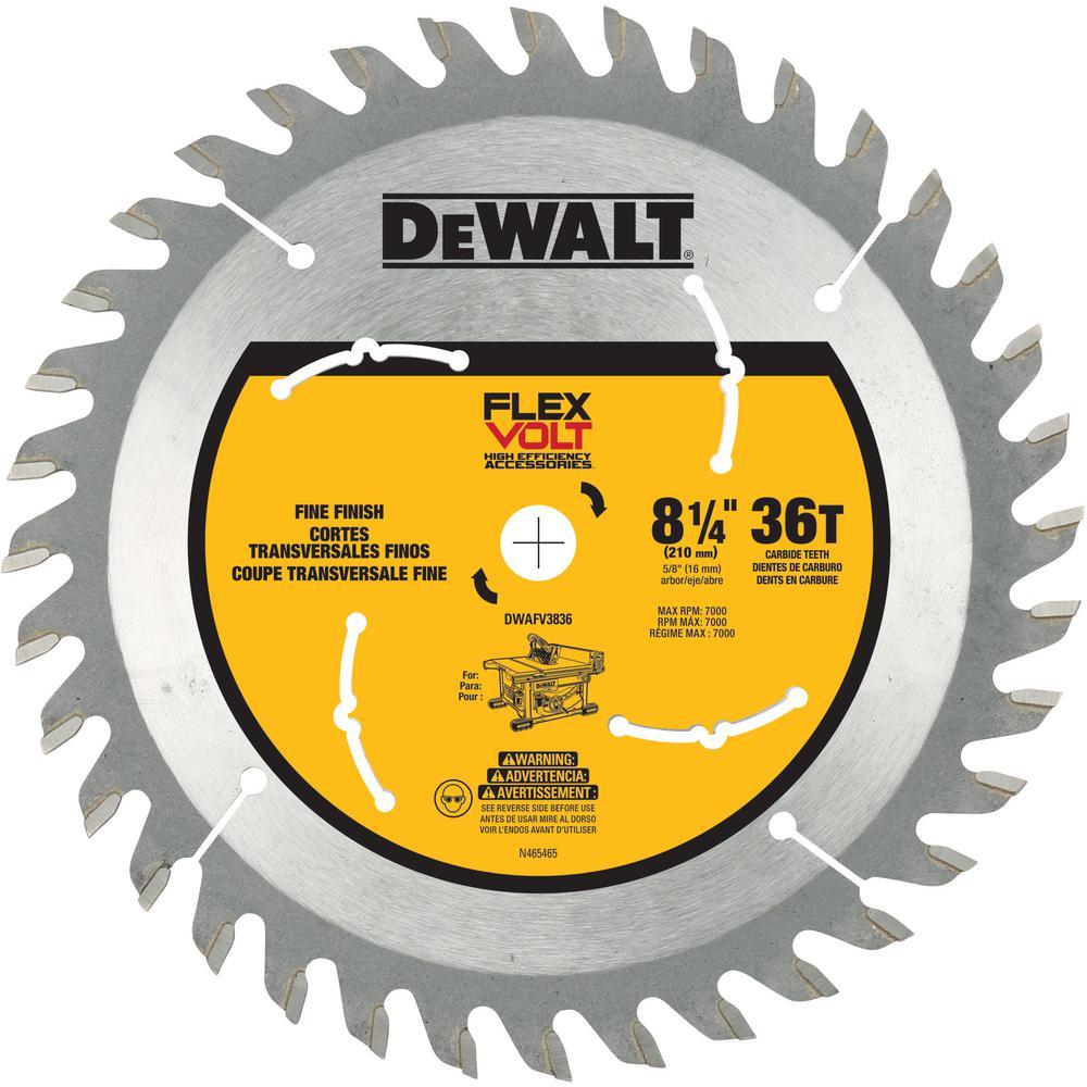 Dewalt FLEXVOLT 8-1/4 inch 36-Teeth Table Saw Blade by DEWALT