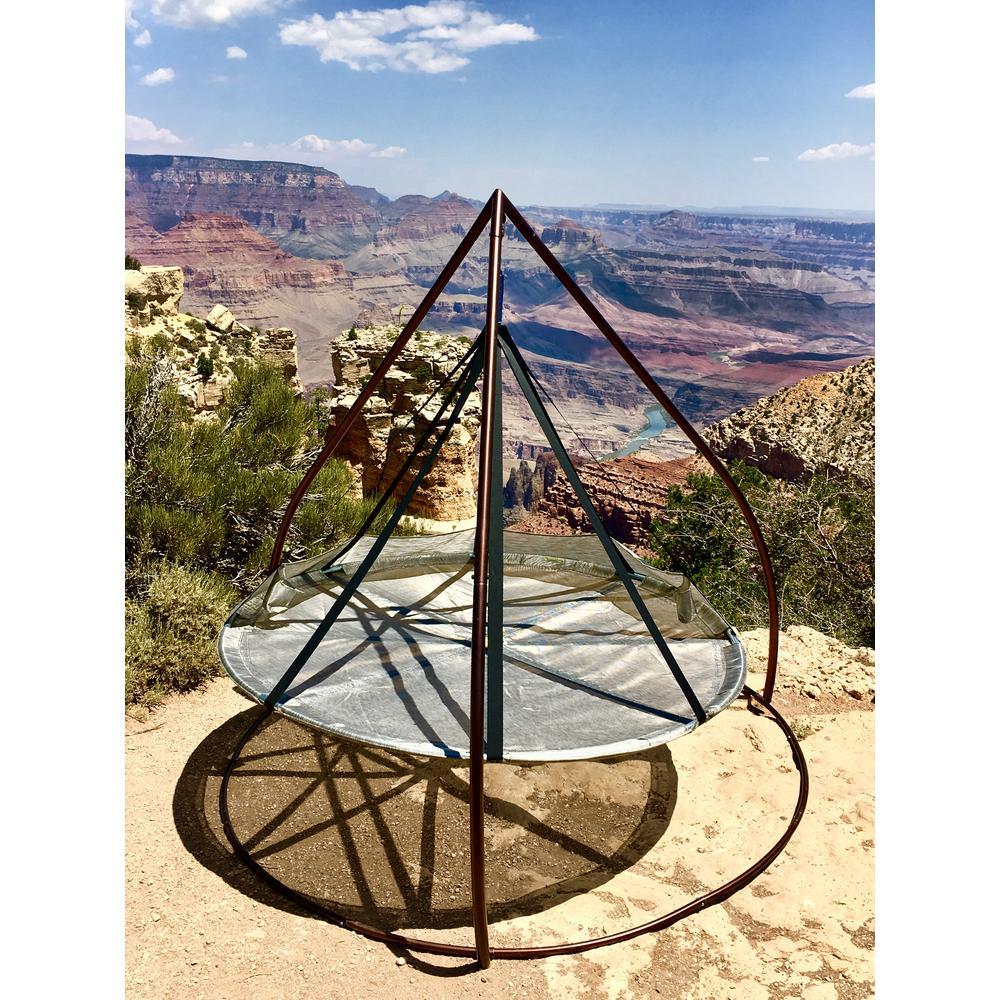 Flying Saucer Set Metal Patio Swing