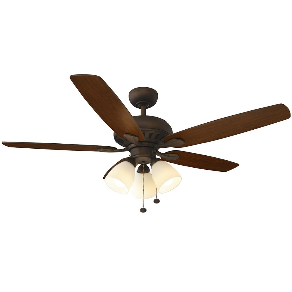 Hampton bay rockport 52 in indoor oil rubbed bronze ceiling fan indoor oil rubbed bronze ceiling fan with light kit aloadofball Choice Image
