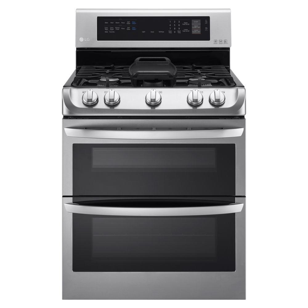 Double Oven Gas Range With ProBake Convection Oven In Stainless  Steel LDG4315ST   The Home Depot