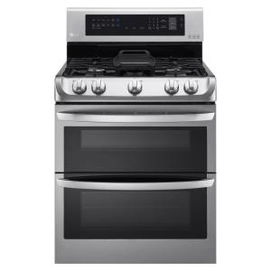 LG Electronics 6.9 cu. ft. Double Oven Gas Range with ProBake Convection Oven in Stainless Steel by LG Electronics