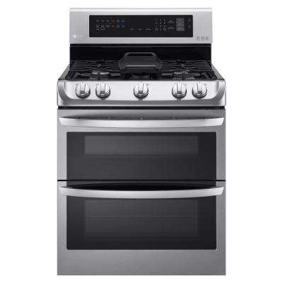 6.9 cu. ft. Double Oven Gas Range with ProBake Convection Oven in Stainless Steel