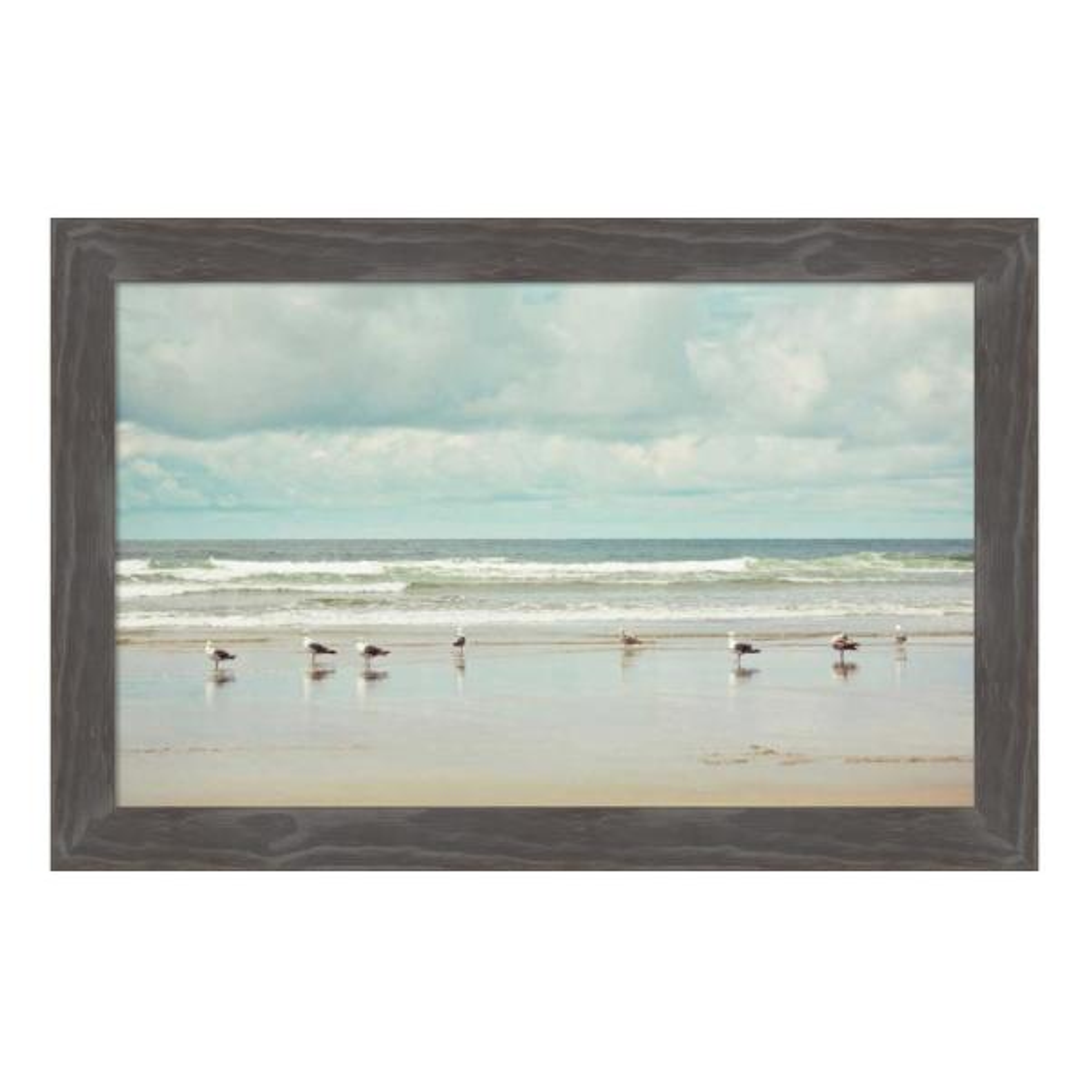 Amanti Art ''Beachcombing'' by Irene Suchocki Framed Canvas Wall Art DSW4367796