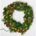 1.8 ft. Lighted Pine and Cone Wreath