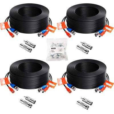100 ft. Security Camera Cables BNC Cord Video Power Cable (4-Pack)