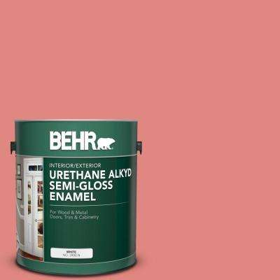 1 gal. #PPU1-04A Watermelon Punch Urethane Alkyd Semi-Gloss Enamel Interior/Exterior Paint