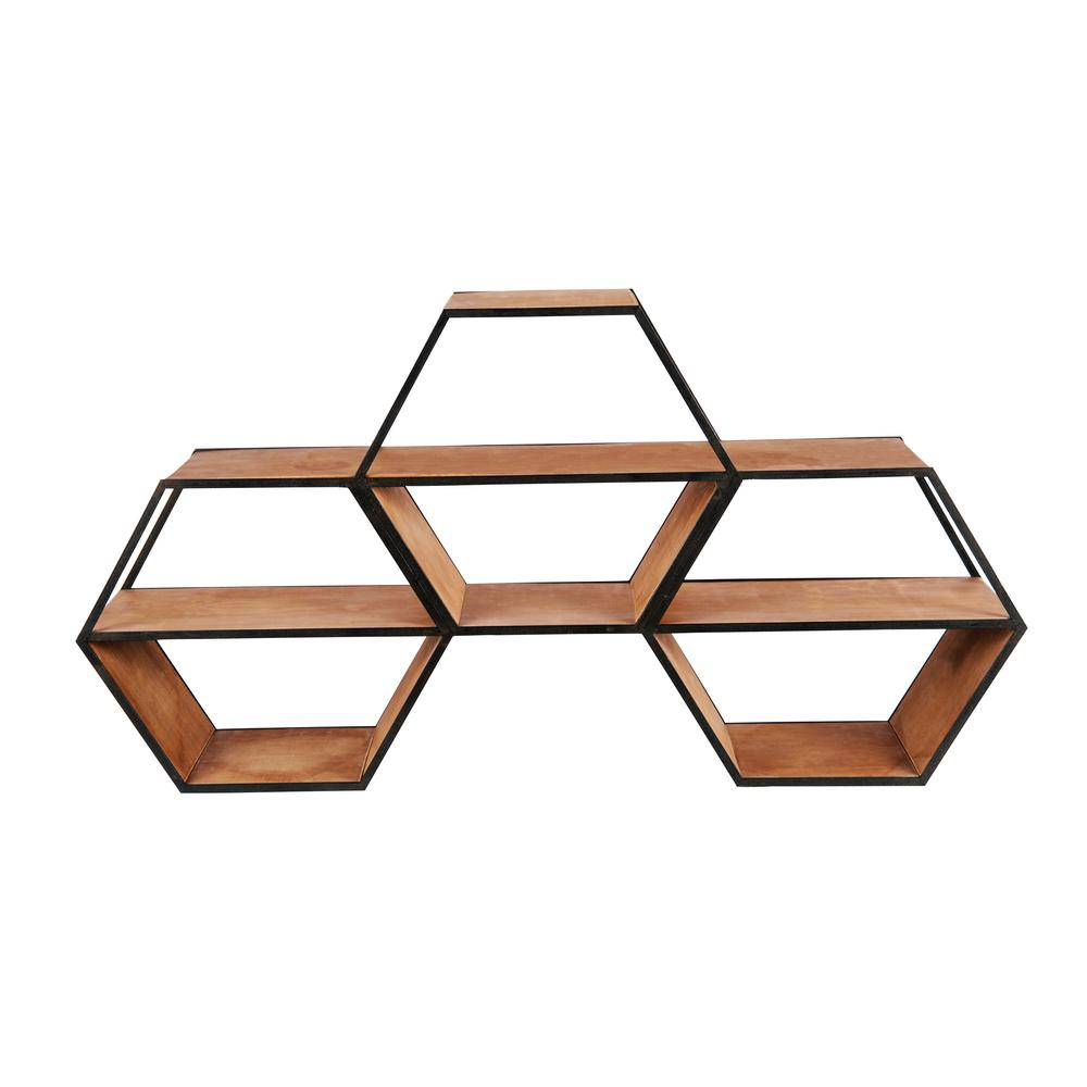 Home decorators collection hexagon wall shelf 9919200950 for Home decorators collection logo