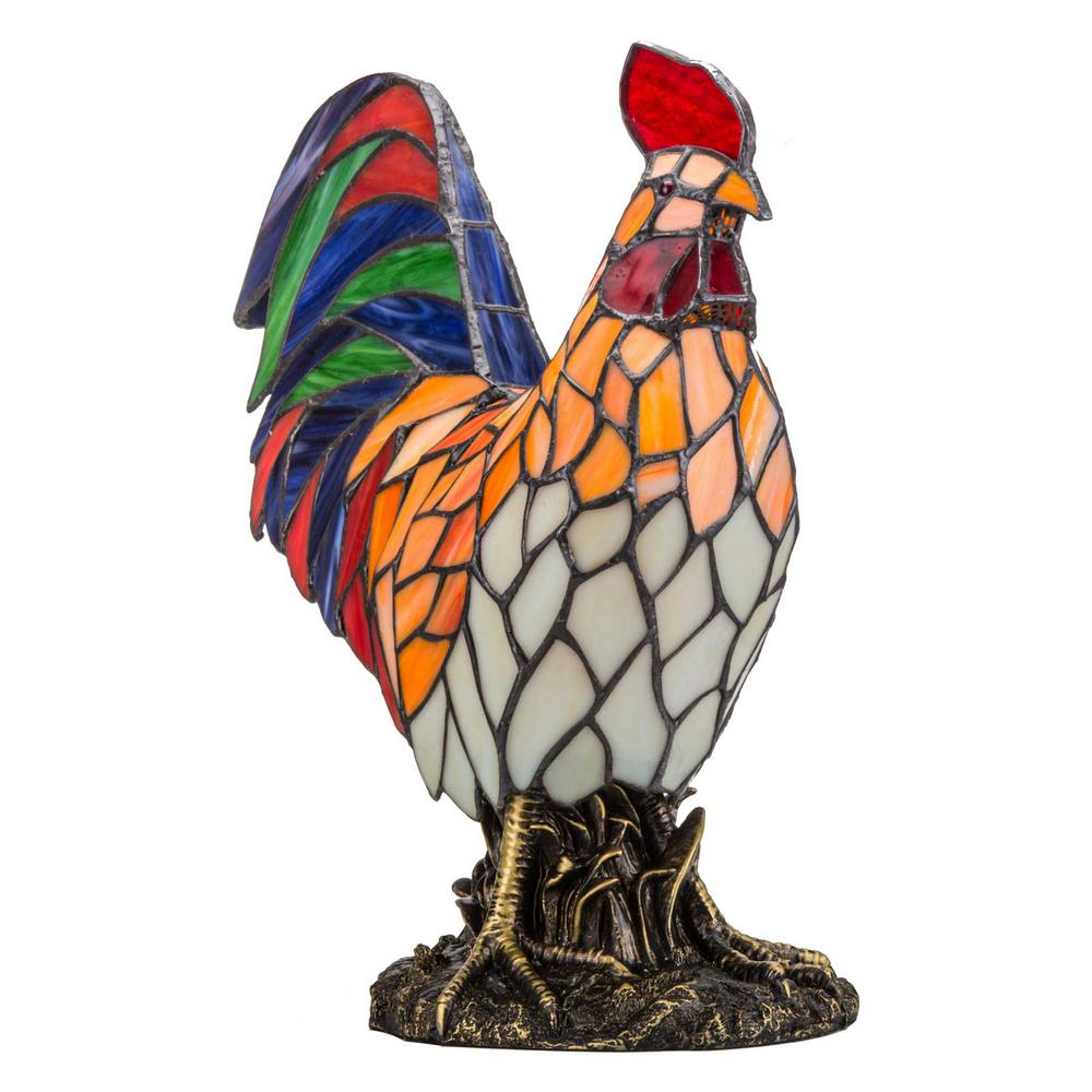 15.5 Multi-Colored Rooster Lamp
