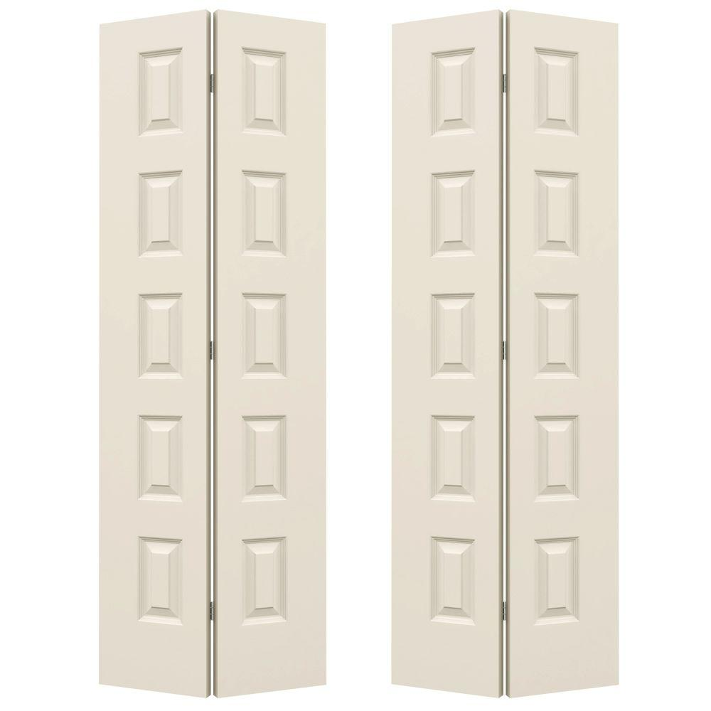 Charmant JELD WEN 72 In. X 80 In. Rockport Primed Smooth Molded Composite MDF Closet  Bi Fold Door THDJW160400017   The Home Depot