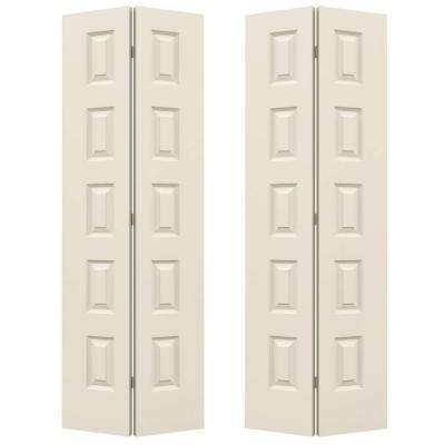 36 in. x 80 in. Rockport Primed Smooth Molded Composite MDF Closet Bi-fold Double Door