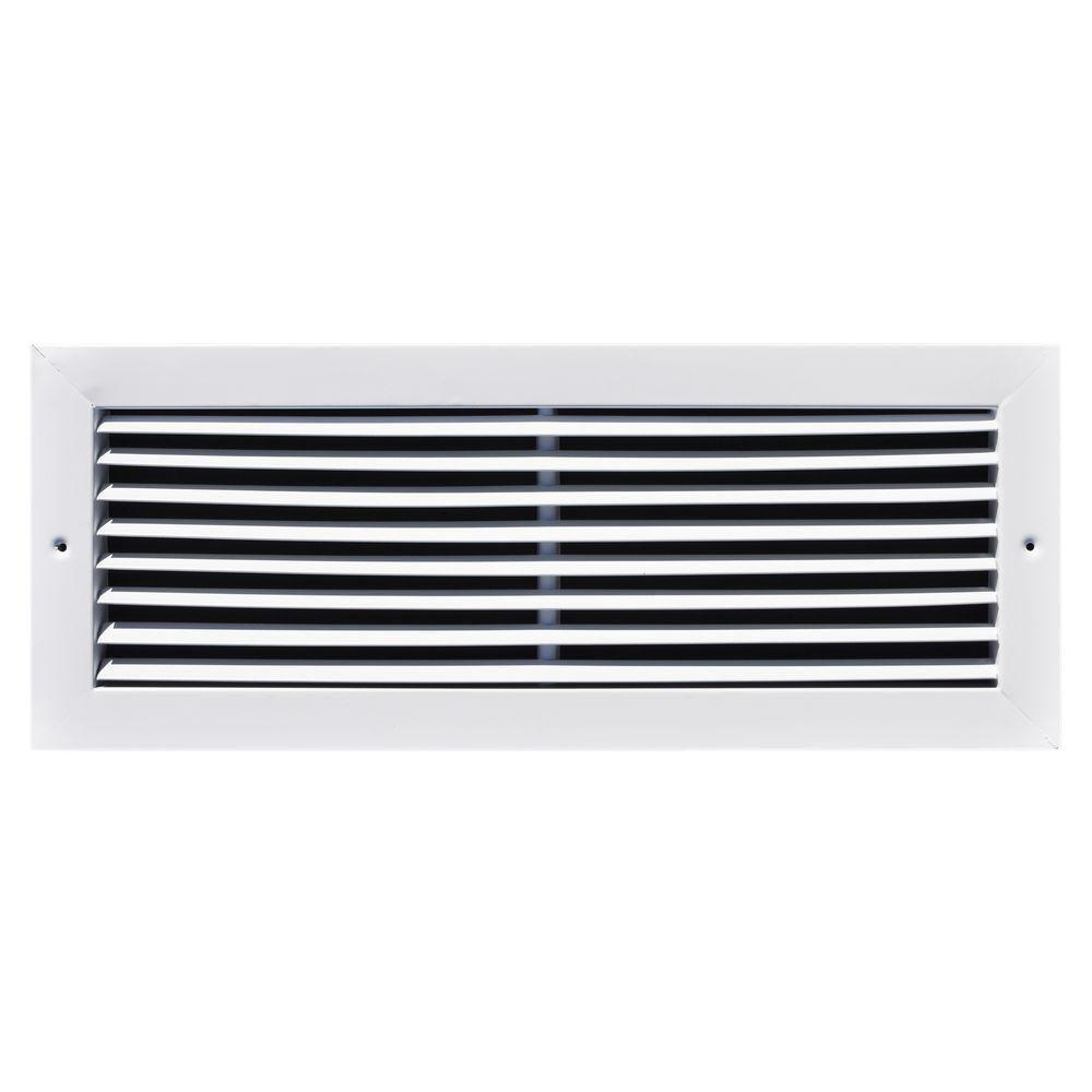 18 in. x 10 in. Fixed Bar Return Air Grille, White