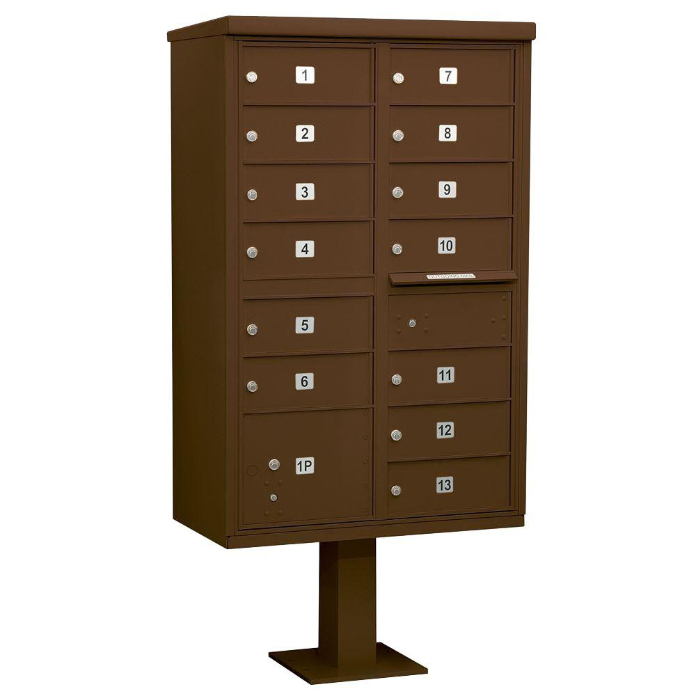 Bronze USPS Access Cluster Box Unit with 13 B Size Doors