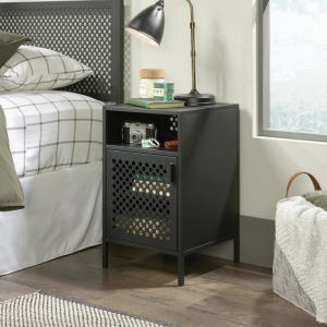 Sauder Boulevard Cafe 1 Door Black Nightstand 423268 The