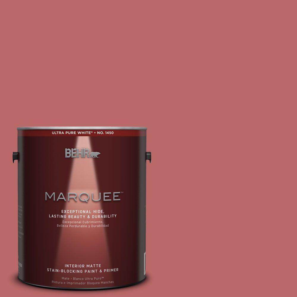1 gal. #MQ1-11 Drama Queen One-Coat Hide Matte Interior Paint