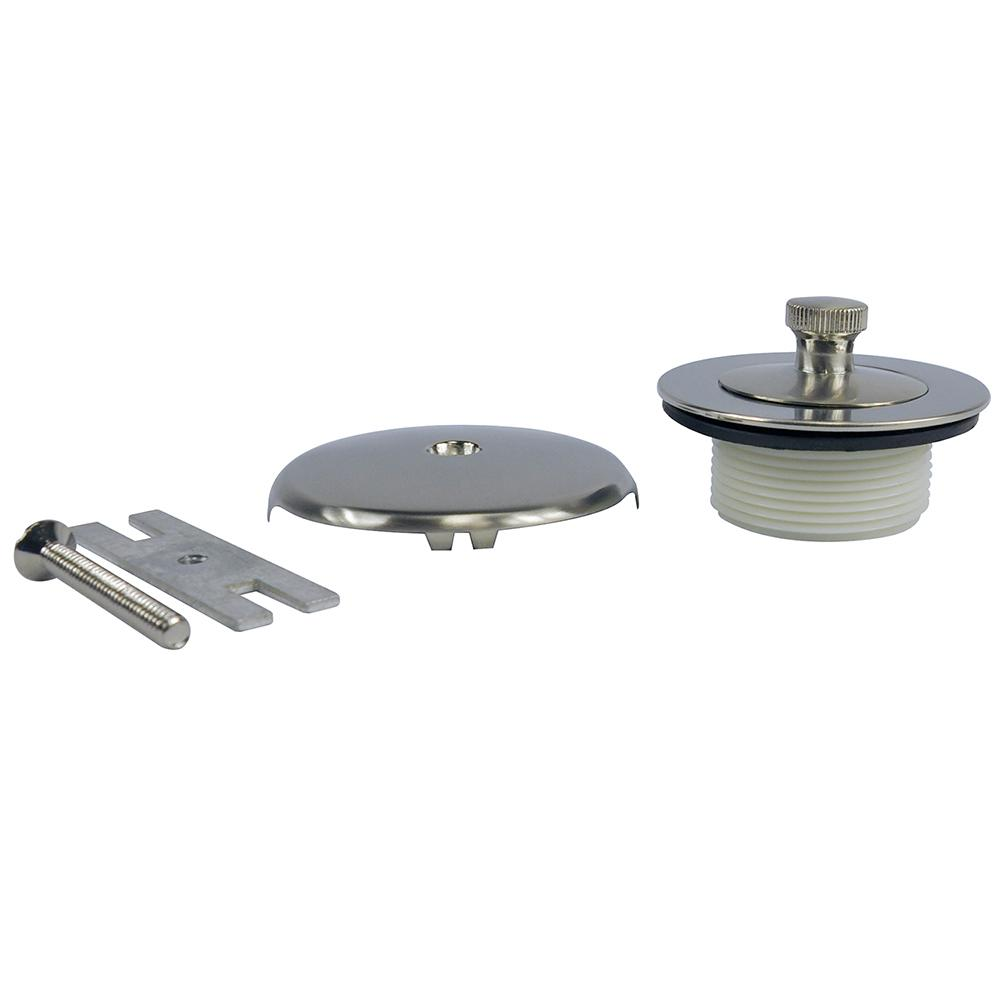 Danco Lift And Turn Tub Drain Kit With Overflow In Brushed
