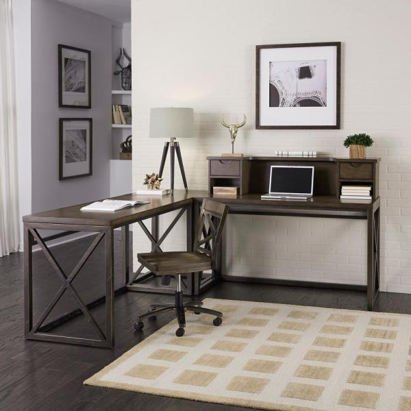 Home Styles Xcel 3-Piece Mahogany and Copper Office Suite