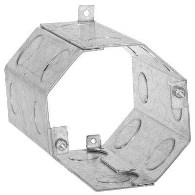 4 in. Octagon Welded Concrete Ring, 6 in. Deep with 1/2 and 3/4 in. Knockouts (10-Pack)