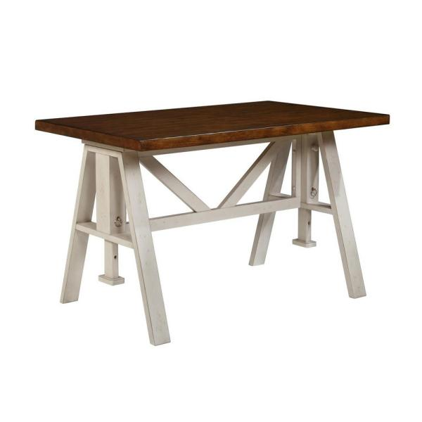 Caroline Sand and Espresso Wood Dining Table