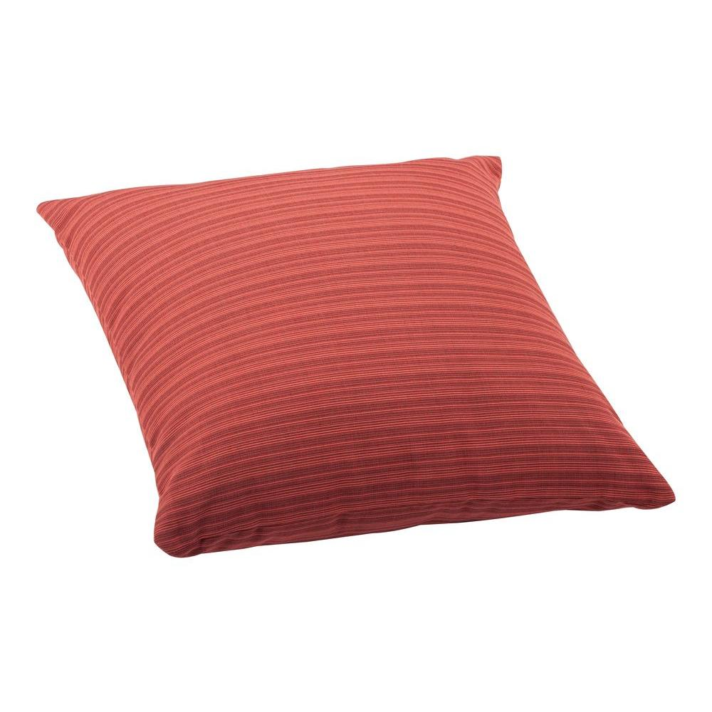 Big Red Decorative Pillows : ZUO Rust Red Doggy Large Outdoor Throw Pillow-703294 - The Home Depot