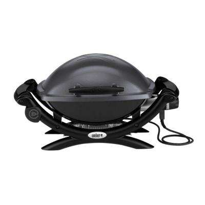 Q 1400 1-Burner Portable Electric Grill in Gray
