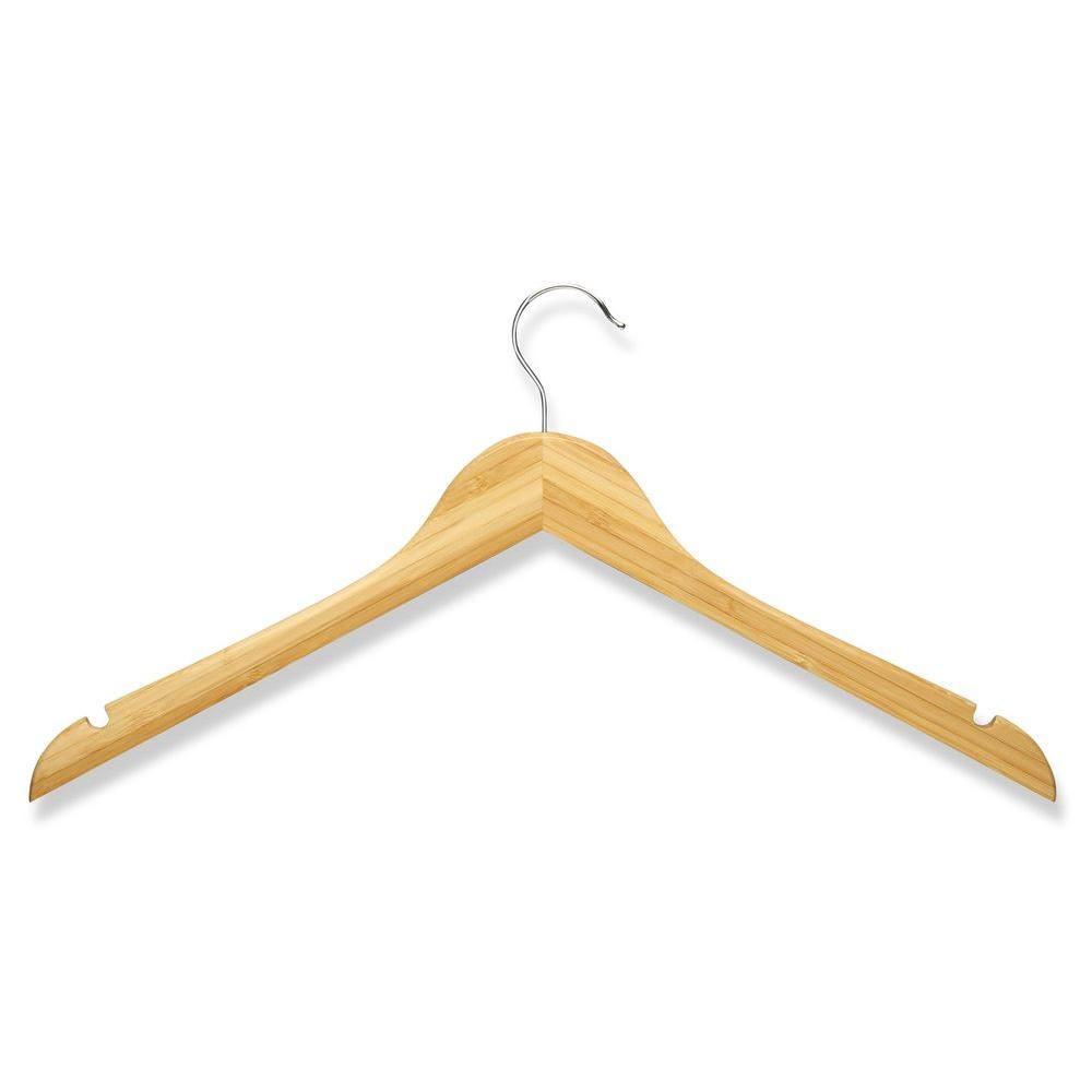 Honey-Can-Do Bamboo Wood Shirt Hangers (10-Pack)-HNGZ01531 - The ... 8feb413c51f