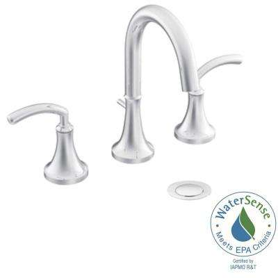 Icon 8 in. Widespread 2-Handle High-Arc Bathroom Faucet Trim Kit in Chrome (Valve Not Included)