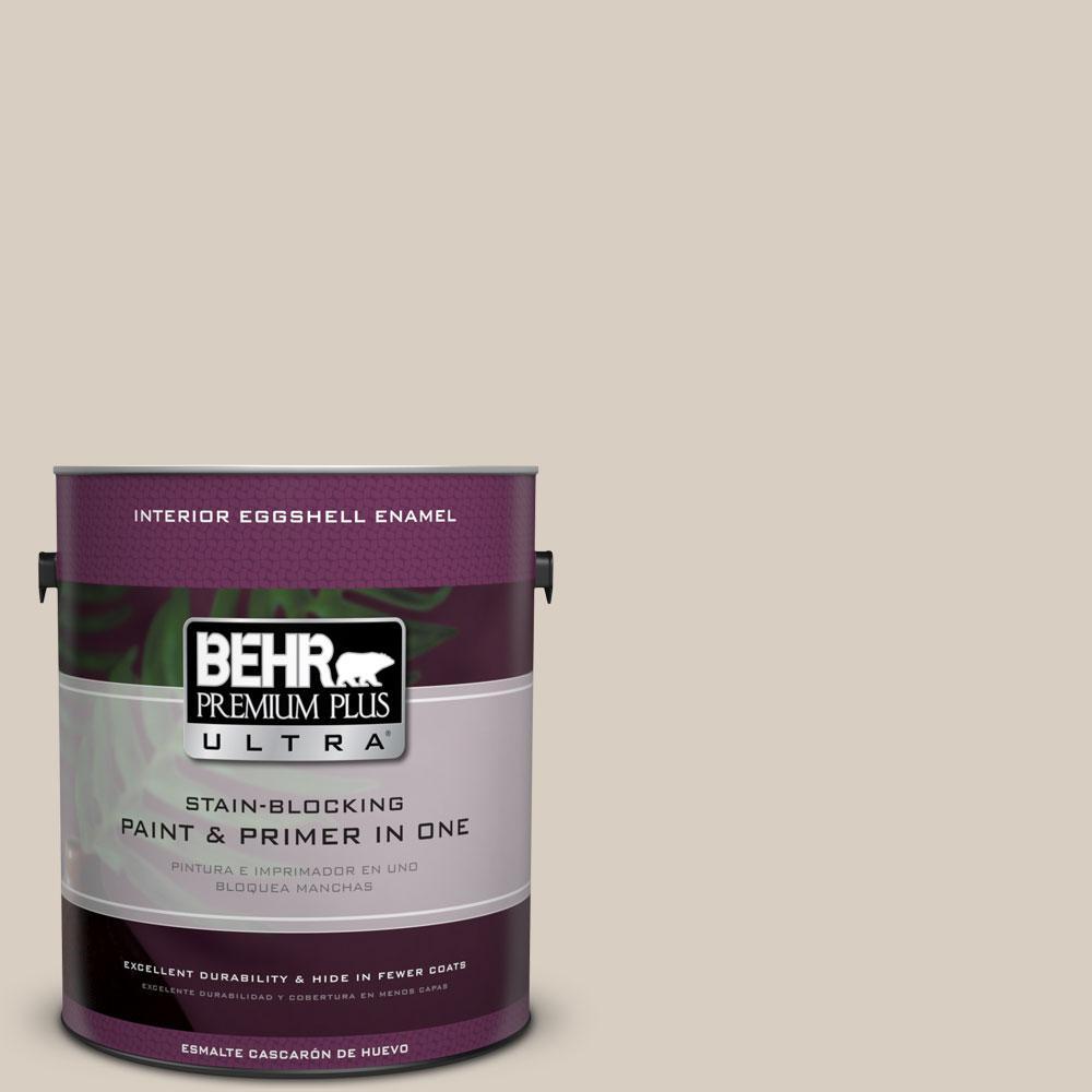BEHR Premium Plus Ultra 1-Gal. #PPU7-9 Aged Beige Eggshell Enamel Interior Paint