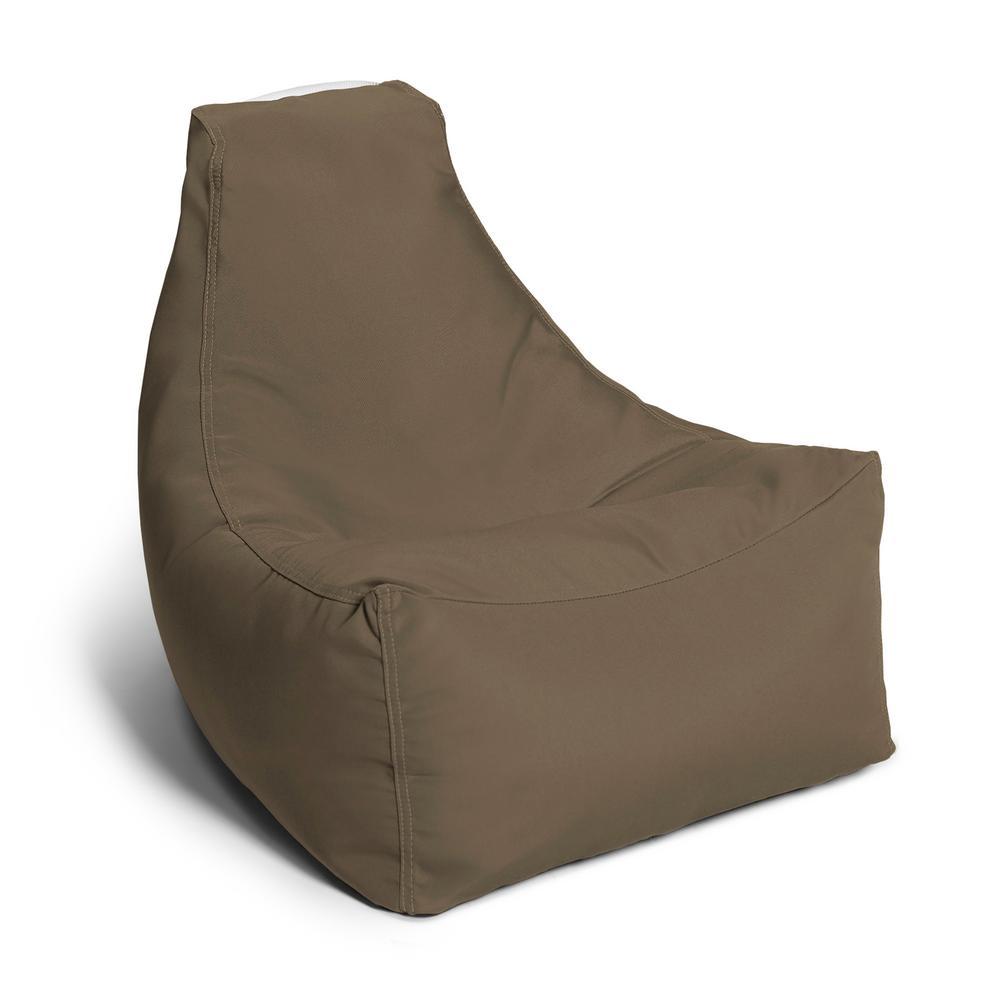 Awesome Jaxx Juniper Jr Taupe Outdoor Kids Bean Bag Lawn Chair Unemploymentrelief Wooden Chair Designs For Living Room Unemploymentrelieforg