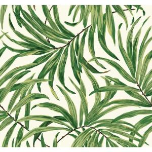 York Wallcoverings Tropics Bali Leaves Wallpaper by York Wallcoverings
