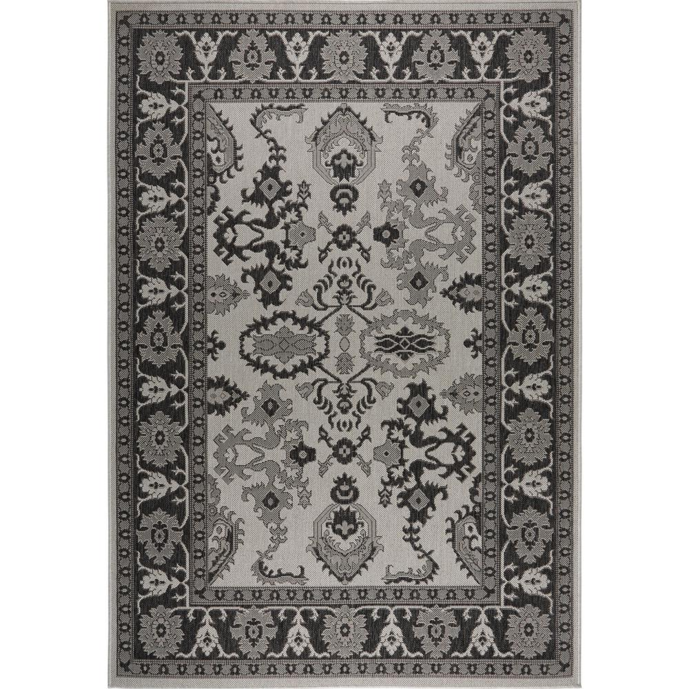 Nicole Miller Patio Country Gray Black 7 Ft 9 In X 10 2 Indoor Outdoor Area Rug 1 2531 456 The Home Depot