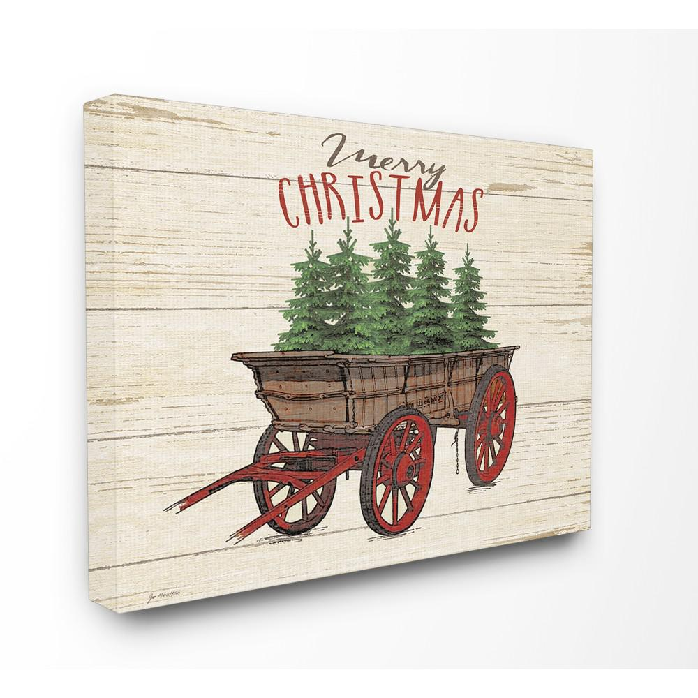 Stupell Industries 30 In X 40 In Merry Christmas Tree Wagon By