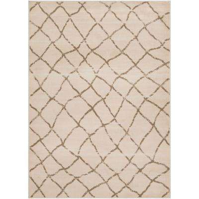 Eveline Camel 5 ft. 3 in. x 7 ft. 3 in. Trellis Area Rug