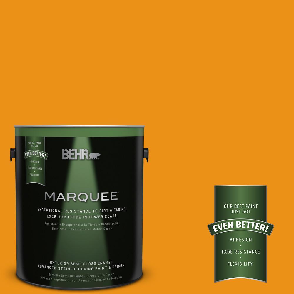 BEHR MARQUEE 1-gal. #290B-7 Yam Semi-Gloss Enamel Exterior Paint