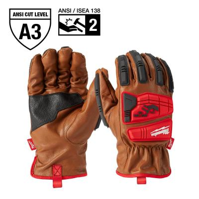 X-Large Level 3 Cut Resistant Goatskin Leather Impact Gloves