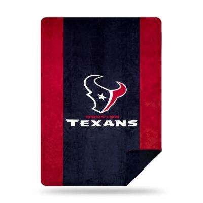 Texans Multi Color Acrylic Sliver Knit Throw