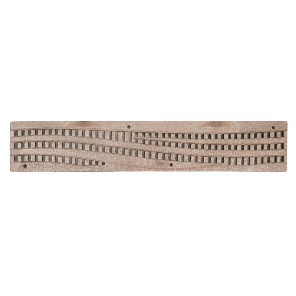 Spee D Channel 24 In Plastic Decorative Wave Design Grate