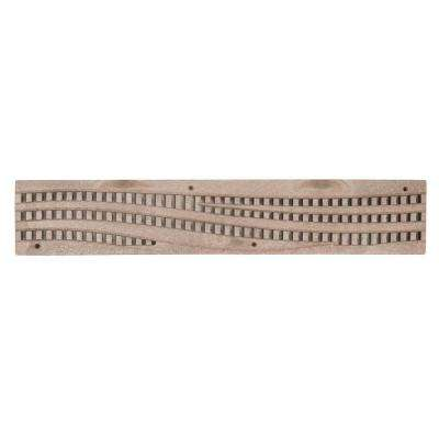 24 in. Plastic Spee-D Channel Drainage Grate with Wave Design in Sand