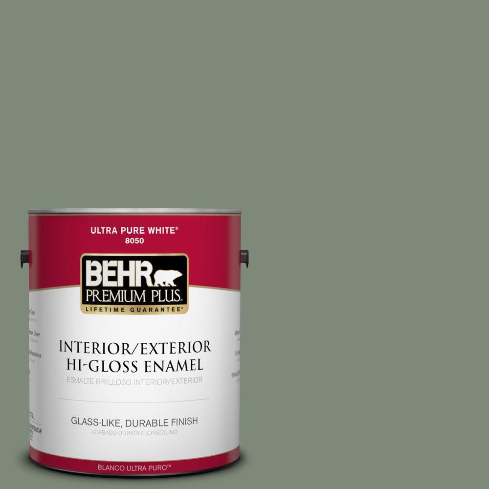 1-gal. #450F-5 Amazon Moss Hi-Gloss Enamel Interior/Exterior Paint