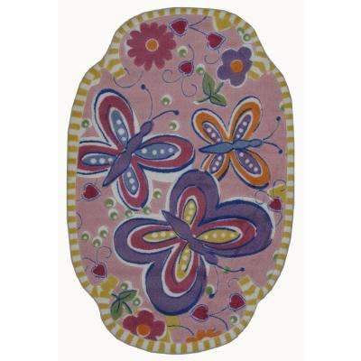 Supreme Glitterfly Multi Colored 39 in. x 58 in. Area Rug