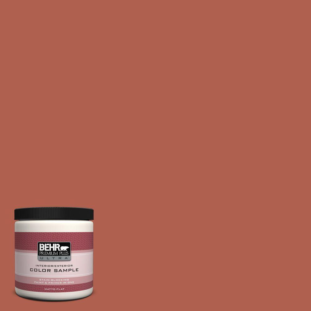 8 oz. #BIC-46 Clay Red Interior/Exterior Paint Sample